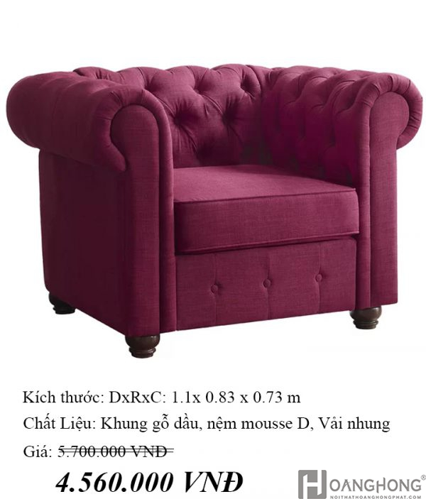 Quitaque Chesterfield Chair 04-7