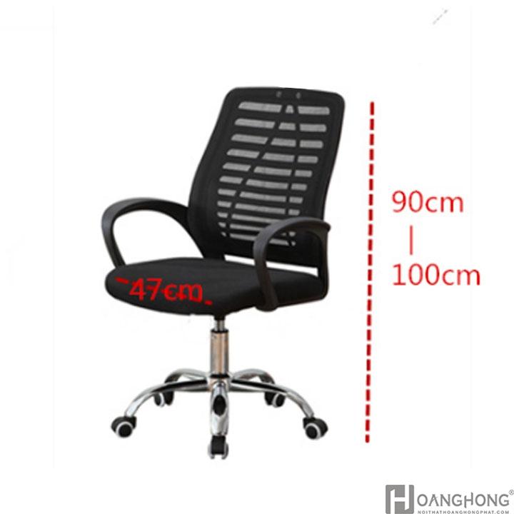 Kích thước ghế văn phòng giá rẻ HHP-GVP104B-L1