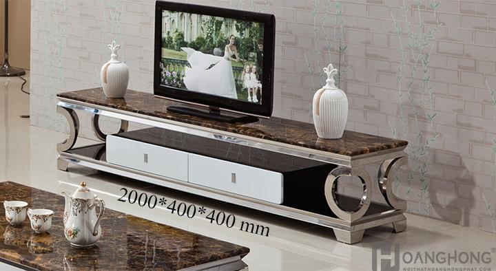Kệ tivi hiện đại mặt đá