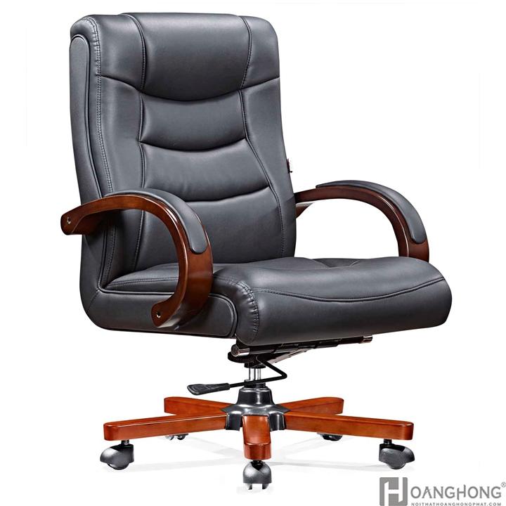 Ghế giám đốc da chân gỗ