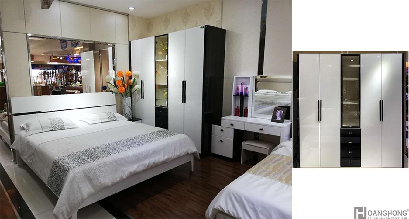Bộ giường ngủ hiện đại nhập khẩu HHP-BGN918 (Ảnh 1)